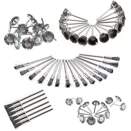 Espeedy 45 Stks RVS Wire Cup Mix Brush Set Past Dremel Rotary Tool Accessoires Sets