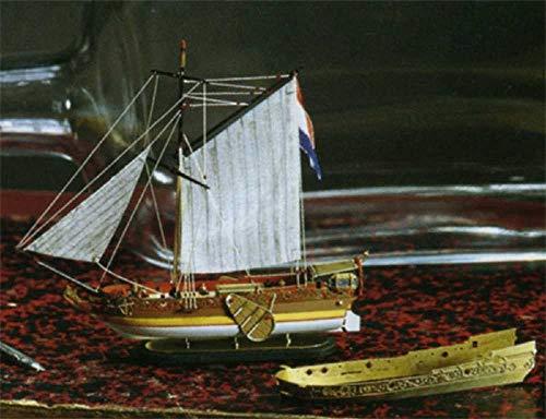 Flaschenschiff Goldene Yacht