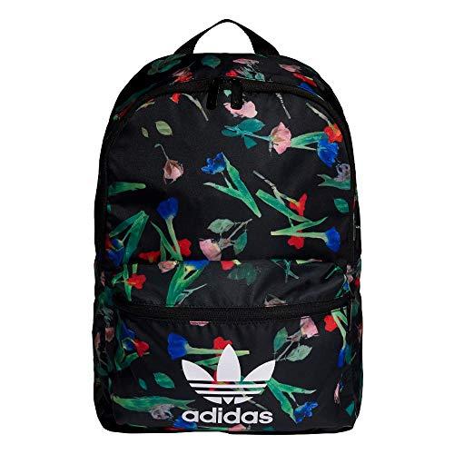 [アディダス オリジナルス]Adidas Originals バックパック BACKPACK CLASSIC TREFOIL BAG ロゴ リュックサック デイパック リュック バッグ マルチカラー フラワー 花柄 トレフォイル レディース ガールズ (ブラック) [並行輸入品]