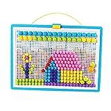 Juega De Juguete Pega De Juguete DIY Mushroom Nails Mosaic Pegboard Juguetes Educativos Mezclar Color para Niños