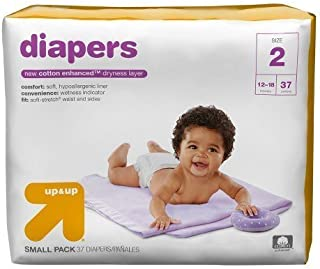 Up & Up Diapers (Size 2 (37 Count) 12-18 lbs)