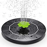 Claoner Solar Fountain, 3W Solar Powered Fountain Pump with 9 Nozzle, Solar Water Pump Floating Fountain, Solar Water Fountain for Bird Bath, Pond, Garden, Pool, Fish Tank, Outdoor