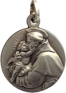 Medalla Sant'Antonio de Padua Plata Maciza 925 - Las Medallas de Los Patronos