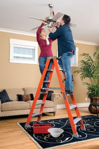 Louisville Ladder FM1508 Fiberglass Twin Front Ladder, 8-Feet, 300-Pound Duty Rating