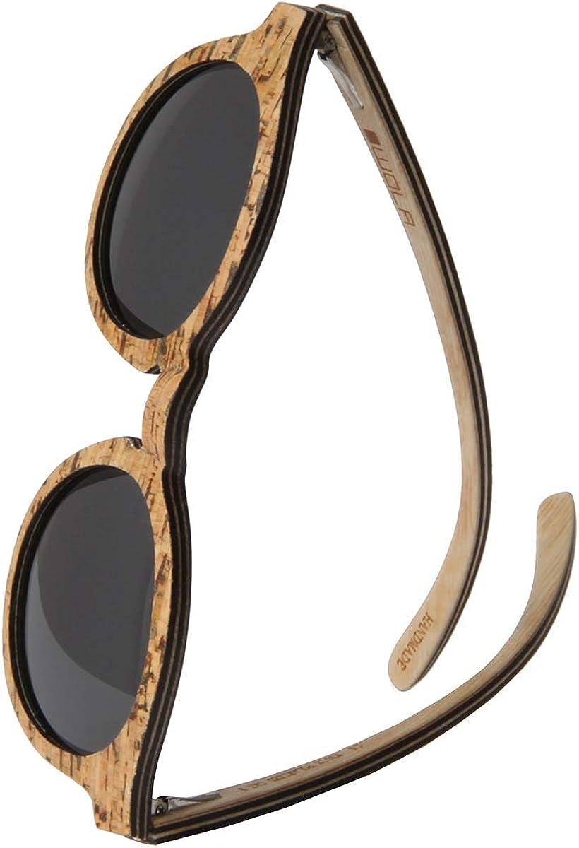 WOLA lunette de soleil bois rond SELVA lunettes rondes bois e acétate Liège