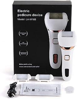 Anself Callus de pie eléctrico con 3 cabezales de rodillo extractores Dispositivo de pedicura recargable portátil Lima de pie electrónica Herramientas de pedicura