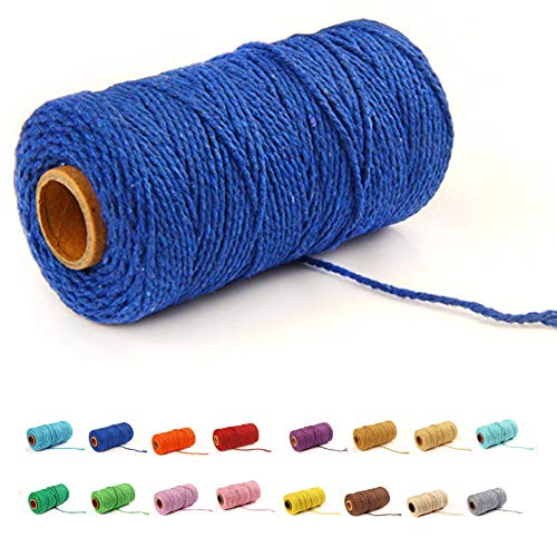 flipped (100 Yards/1.5mm/19 Colors Optional) Cotton Baker Twine DIY Craft Macram