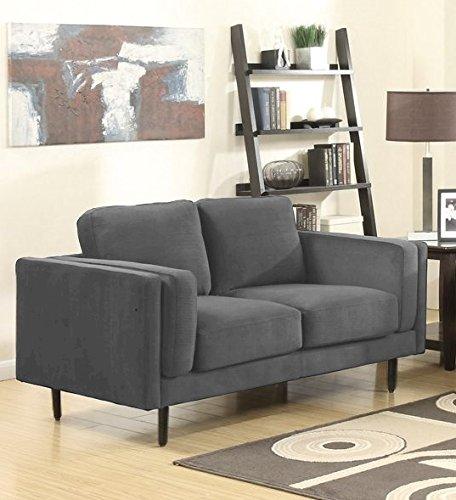 SEDEX Neapel Sofa 2-Sitzer Couch Polstergarnitur Kunstleder - Hellgrau