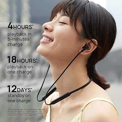 Huawei FreeLace ultraleichtes Bluetooth Headset 'CM70-C' mit HiPair, Schwarz - 4