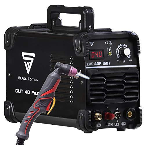 STAHLWERK CUT 40 Pilot IGBT Plasmaschneider mit Pilotzündung und 40 Ampere, bis 10 mm Schneidleistung, für Lackierte Bleche & Flugrost geeignet, 7 Jahre Garantie