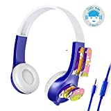 XHKCYOEJ Computer mit Stereokopfhörern/Kopfbedeckung /Kopfhörer/Kinder /Studie/Schutz /Anhörung, Blau
