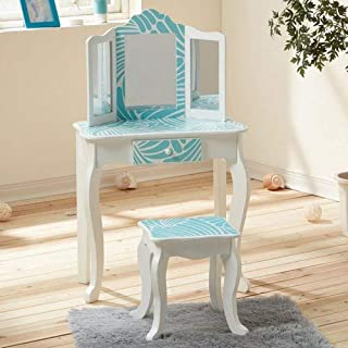 9f61e038f1d34 Fashion Prints TD-11670E Teamson Kids - Gravures de mode Tropical Vanity  Table et Tabouret
