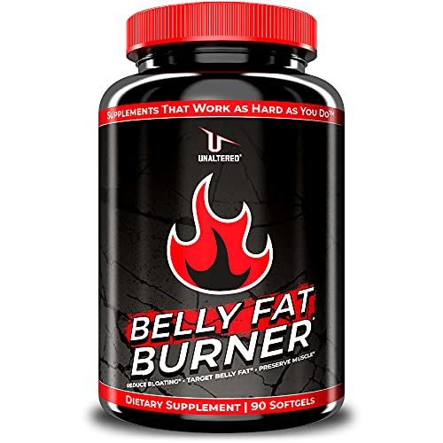 UNALTERED Belly Fat Burner - Natural Weight Loss Pills for Stomach Fat - 90 Softgels