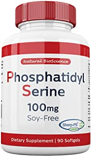 Soy Free Phosphatidylserine 100 mg - Professional Patented Sharp-PS Green, Made from Sunflower Lecithin, Allergen Free, Gluten Free, Non GMO, 90 Softgels