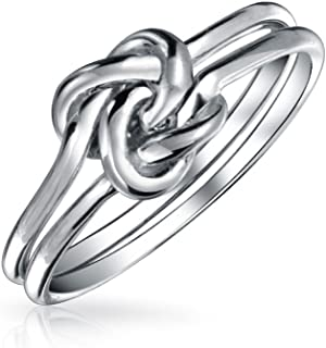 Best double love knot ring silver Reviews