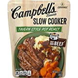 Campbell's Slow Cooker Sauces Tavern Style Pot Roast, 13 oz. Pouch (Pack of 6)