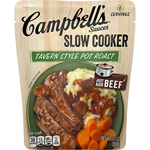 Campbell'sSlow Cooker Sauces Tavern Style Pot Roast, 13 oz. Pouch (Pack of 6)