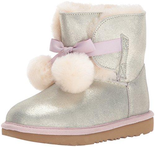 UGG Girls K Gita Metallic Pull-on Boot, Gold, 4 M US Big Kid
