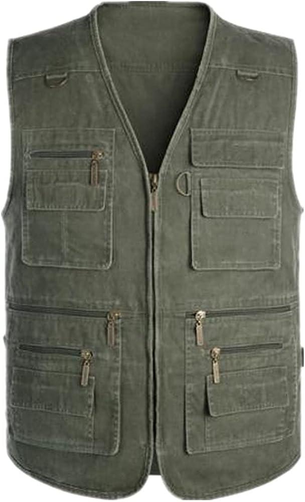 Men's denim vest Over item handling ☆ sleeveless autumn sports outdoor casual NEW
