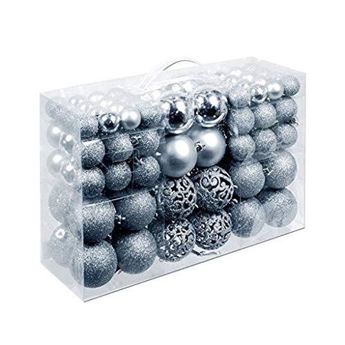ZJL220 100 unidades/caja de bolas de Navidad irrompibles para colgar adornos para árbol de Navidad, fiesta de boda, decoración doméstica, regalo de Año Nuevo