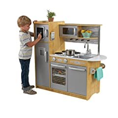 Working knobs on oven and sink Cordless phone with hands-free clip Shelving and hanging pegs for pots, pans and accessories See-through doors on oven and microwave Chalkboard surface on the freezer Removable sink for easy cleanup Smart, sturdy wood c...