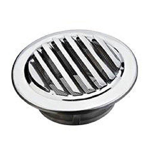 80 bis 120mm Edelstahl Lüftungsgitter Abluftgitter rund mit Flansch Lüftungsgitter-Lochabdeckung zum Halten der Luftzirkulation für Badezimmer-Büroraum(100mm)
