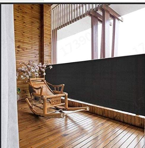 Balkon Sichtschutz Net Zaun Windschutzscheibe Mesh Shade Abdeckung für Baustelle Patio Yard Auffahrt Garten Pavillons Schwarz, 1,8x7,62 m / 6x25ft