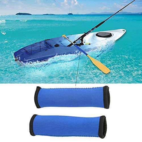 SOULONG 2pcs 15cm Anti-Skid Diving Fabric Kayak Paddle Grips for Efficient Paddling, Non-Slip Soft Kayak Canoe Paddle Grips, Canoe Paddling Grips(Blue)
