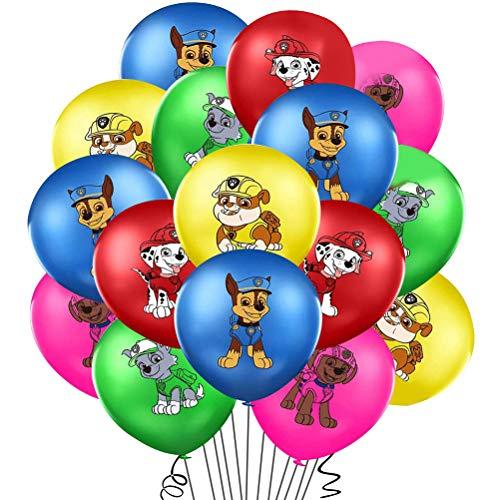 WENTS Ballon Luftballon Paw Patrol Hund Kindergeburtstag Deko Paw Patrol Geburtstag Fellfreunde Luftballons Dekoration Set Happy Birthday Deko-Luftballon Balloons, 40pcs