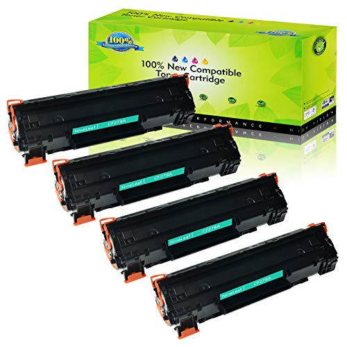 NineLeaf 4 Pack Black Toner Cartridge Replacement Compatible for HP CF279A 79A for Laserjet Pro MFP M26nw M12w M12a MFP M26a MFP M26w Printer