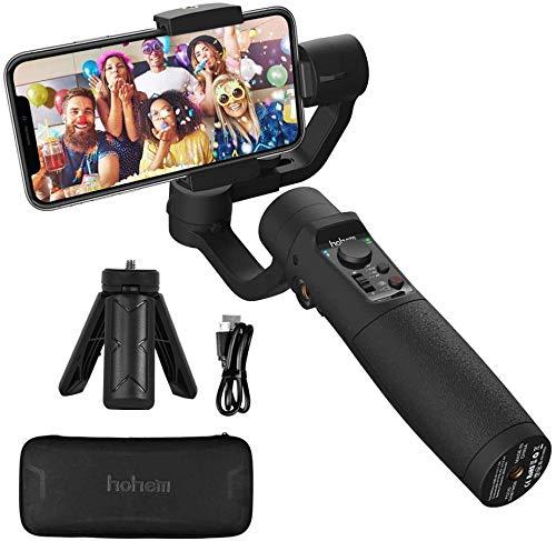 Gimbal Stabilisator - Hohem 3-Axis Handy Stabilizer mit Live-Videoaufnahme, Sportmodus, Zeitrafferaufnahme usw. 3600mAh Akku, Wasserdicht, Gimbal Smartphone für iPhone 12/11Pro, Samsung Galaxy, Huawei