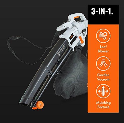 VonHaus 3 in 1 Leaf Blower - 3000W Garden Vacuum & Mulcher Practicalities