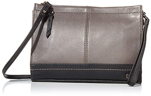The Sak womens Women's Iris Leather Demi Clutch, Slate Block, One Size US