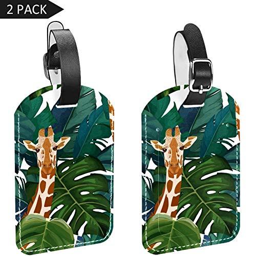 Bennigiry Ethnischer japanischer Kranich Leder Gepäckanhänger Gepäckanhänger mit Sichtschutz 2 Stück Mehrfarbig5 Einheitsgröße