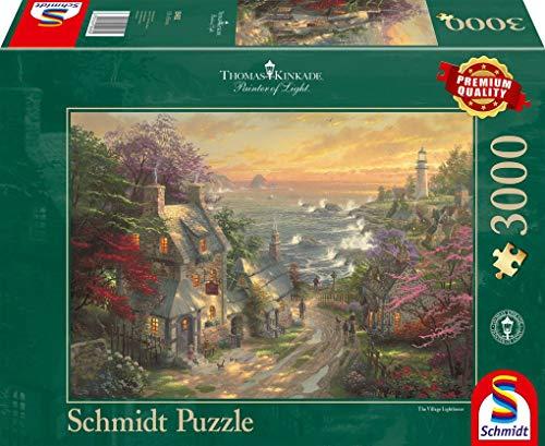 Schmidt Spiele 59482-Puzzle (3000 Piezas), diseño de Lobos en el Faro, Color carbón (59482)