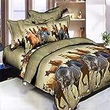 Bettwäsche Samt Bettbezug Bettbezüge Für Betttücher Bettset 100% Naturfaser (Bettbezug 1 Kissenhüllen 1 Spannbetttücher) Geeignet: Luxuxs Chlafzimmer (Color : A, Size : 4pcs)