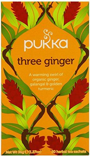 Pukka Organic Triple Ginger 20 Teabags (Pack of 4, Total 80 Teabags)
