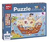 APLI Kids- Barco Pirata Puzle Observation, 104 Piezas, Multicolor (17917)