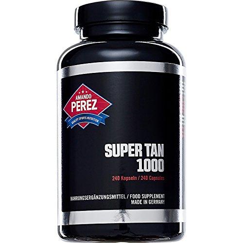 SUPER TAN 1000 - hochdosiert - Selbstbräuner - Bräunungsmittel - 240 Kapseln - Beta Carotine