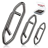 gotrays 50Pcs Power Clips Fishing Clips Fast Change Fishing Snaps Fishing Speed Clips Freshwater Saltwater Line Leader Wire High Strength Carbon Steel Corrosion Resistant