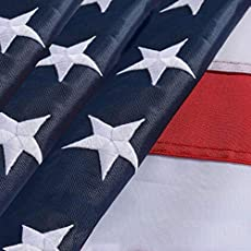 American Flag,American Flags 4x6,USA US Flag,Deluxe Embroidered Stars, Heavy Duty Durable Flags for Outdoors, Vivid Color, Sewn Stripes, Brass Grommets(4x6 FT Embroidered Stars) (US FLAG 4X6FT)