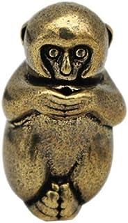 DMtse Brass Mini Antique Monkey Statue Ornaments Meditation Seated Pose Attractive & Serene Small Monkey Statue Figurine