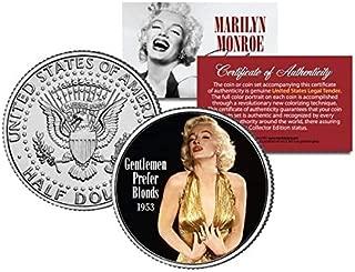 マリリンモンロー ハーフダラー 50セント コイン OFFICIALLY LICENSED GENTLEMEN PREFER BLONDES
