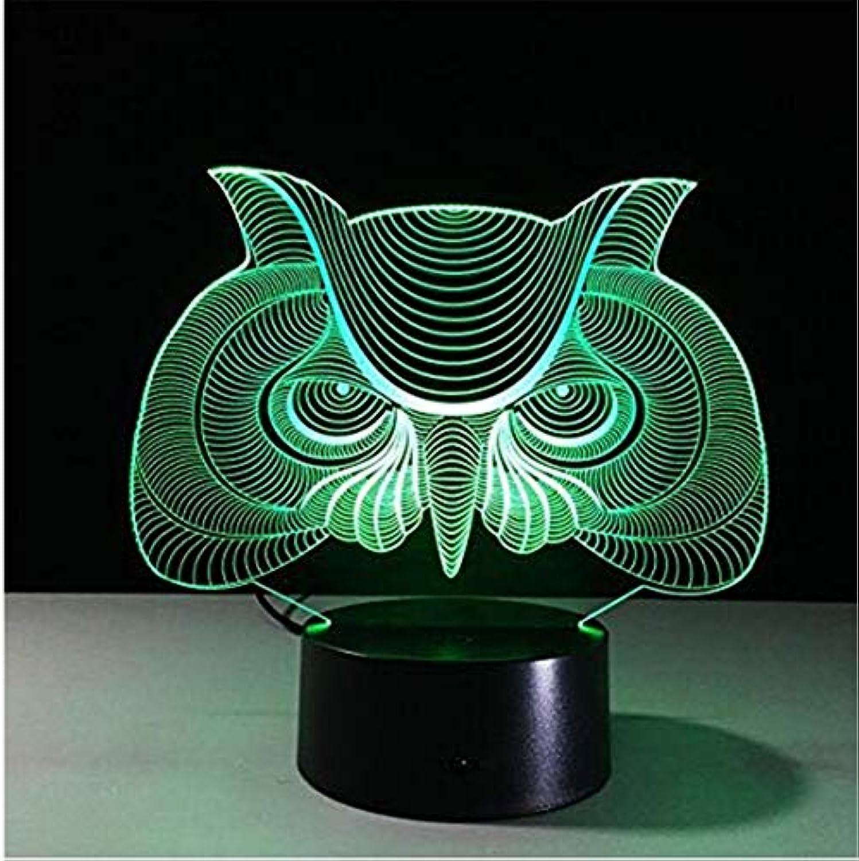 OwentsLed Wandleuchte Kronleuchter3D Eulenlampe 7 Farbe Led Nachtlampen Für Kinder Touch Led Usb Tisch Lampara Lampe