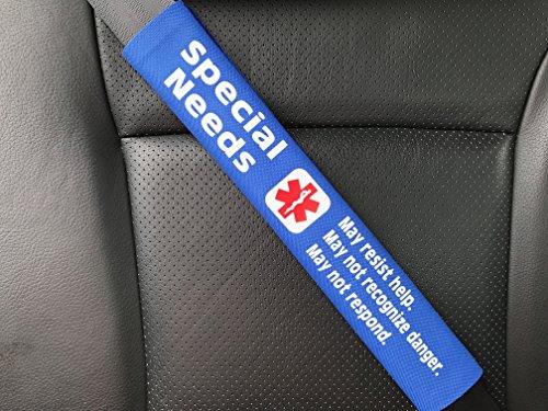 Special Needs Medical Alert Seat Belt Cover (Royal Blue)