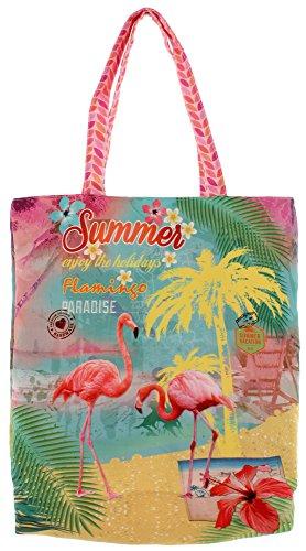 Shopper FLAMINGO PARADISE multicolour Mehrfarbig one size
