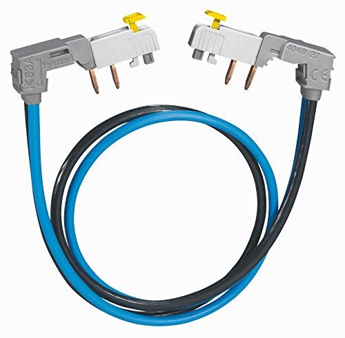 Legrand 404927 Cordon de Repiquage Entre 2 Rangées de Disjoncteur 1P+N à Connexion Automatique, Section 2x10mm², Gris