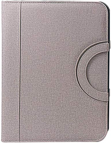 TRYSHA - Carpeta de conferencias, piel sintética, portafolio, portafolios, calculadora, carpeta de plástico, transparente