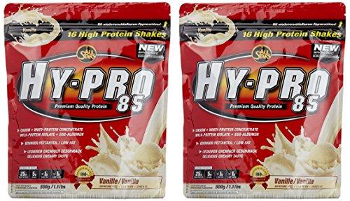 All stars Hy-Pro 85 Beutel Doppelpack (2 x 500 g) Vanille, 1er Pack (1 x 1 kg)