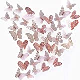 beihuazi 3D Schmetterlinge Deko Wand Wandsticker Aufkleber Wandtattoo für Wohnzimmer...